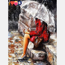 Load image into Gallery viewer, Girl In The Rain Painting
