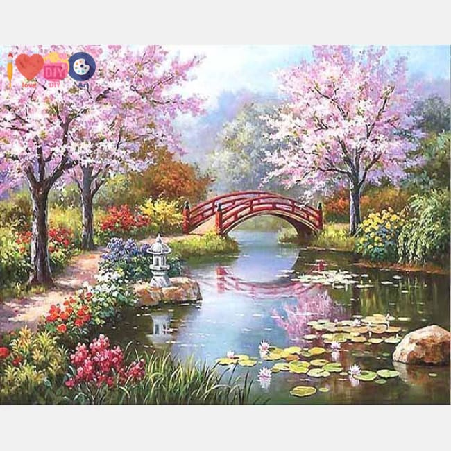japanese garden painting numbers kit