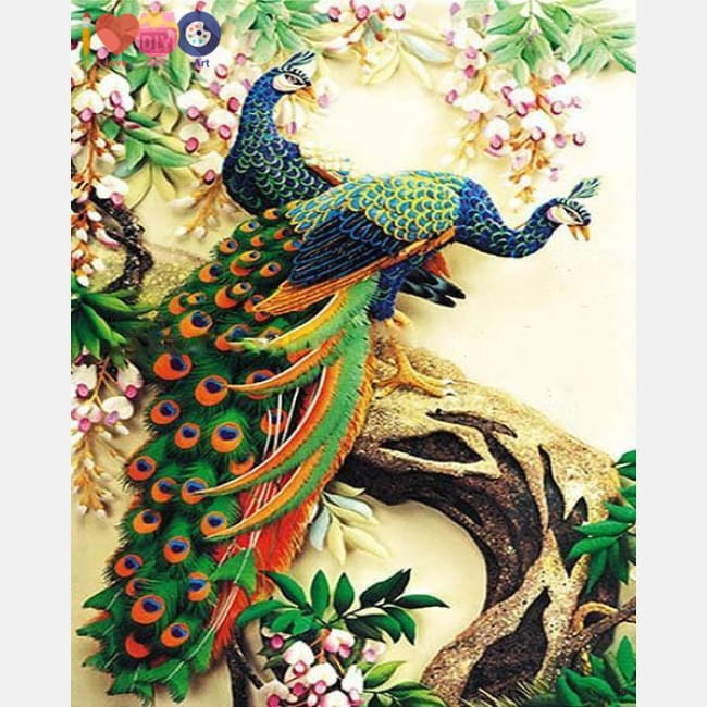Majestic Peacock Paint By Numbers For Adults