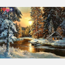 Load image into Gallery viewer, Sun Set In The Snow Forest - Diy Order Today