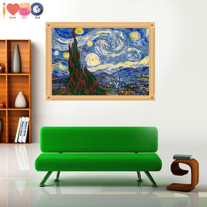 The Starry Night By Vincent Van Gogh Paint By Numbers Kit