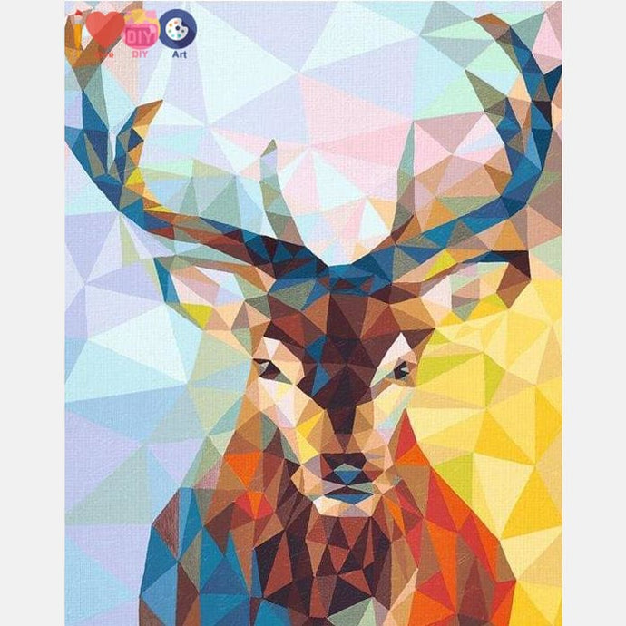 Wild Deer Abstract Paint By The Numbers
