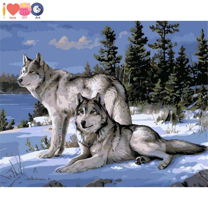 Wolf Painting By Numbers Painting - Paint Yourself