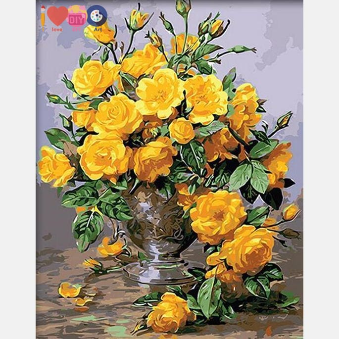 Yellow Flowers Diy Painting
