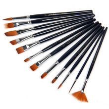Load image into Gallery viewer, Nylon Hair Painting Brush Set - 12 Brushes