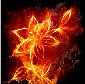 fire flower diamond painting