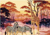 Vintage Giraffe, Zebra in Africa Painting By Numbers