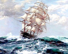 Load image into Gallery viewer, Ship in the Raging Sea Paint by Numbers Painting