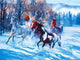 Horses Running in the Snow Painting - Paint by Numbers