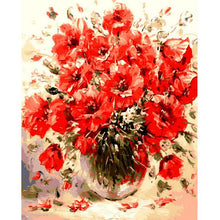 Load image into Gallery viewer, Artistic Red Flower Painting - Paint by Numbers