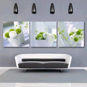 3 Piece Flower Paintings - Paint By Number