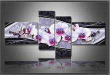 Load image into Gallery viewer, 4 Piece Wall Art Floral Diamond Painting