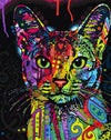Colorful Cat Cartoon Painting by number kit for Kids