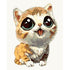 Cute Cat Cartoon Paint by Numbers For Kids