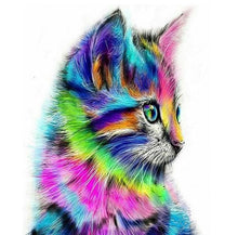 Load image into Gallery viewer, Cute Colorful Cat DIY Painting - Paint by Numbers