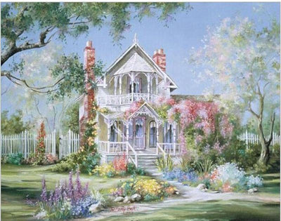 Beautiful Castle & Garden DIY Oil Painting By Numbers