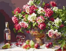 Load image into Gallery viewer, Beautiful Fruits and Flowers Painting - Paint by Numbers