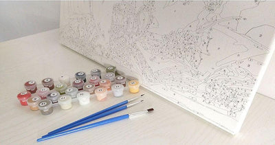 Swan Painting with DIY Paint by Numbers Kit