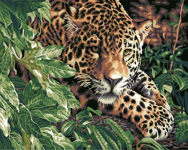 Tiger in the Forest Paint by Numbers