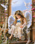 Cute Little Angel with Flowers and Birds Painting by Numbers