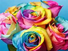 Load image into Gallery viewer, Multi-color Rose - Paint with Diamonds
