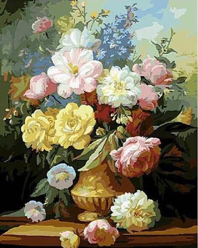 Flowers Painting - Paint yourself with Paint by Numbers