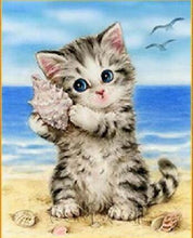 Load image into Gallery viewer, Cute kitty on the Beach - 2 Variants