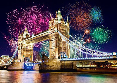 London Bridge and Fireworks at Night - 2 Variants
