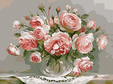 Load image into Gallery viewer, Framed Flower Paintings to be Painted by YOU - Paint by Numbers