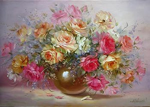 Framed Flower Paintings to be Painted by YOU - Paint by Numbers