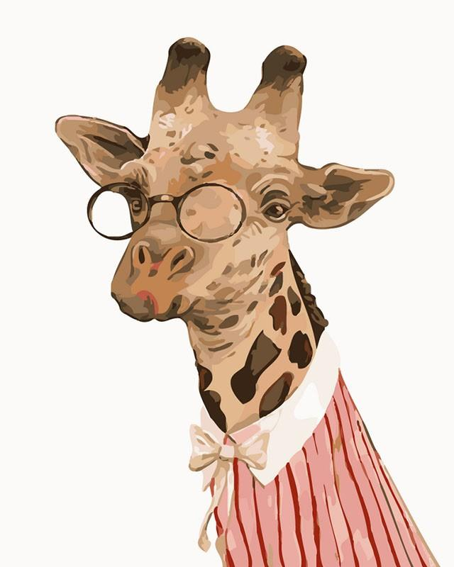 Professor Giraffe - Paint by Numbers