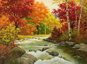 river running painting kit
