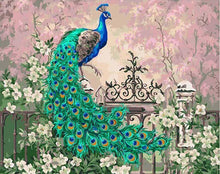 Load image into Gallery viewer, Peacock in the Flowers Painting by Numbers for Adults