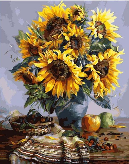 sunflower paint by numbers
