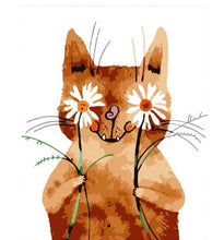 Load image into Gallery viewer, Lovely Funny Cat - Paint by Numbers for Kids