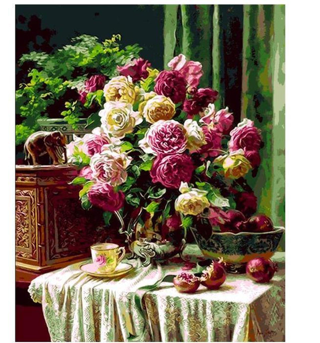 Colorful Flowers Painting - Paint by Numbers Kit