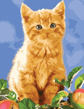 Load image into Gallery viewer, Cat DIY Painting for Kids - Paint by Numbers
