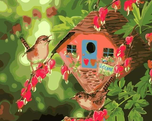 Sparrow has a beautiful Nest - Want to Paint it? Sparrow Would Love You!