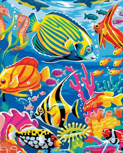 Fish in the Ocean Paint by Numbers for Kids