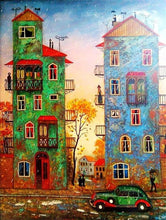 Load image into Gallery viewer, colorful buildings diamond painting