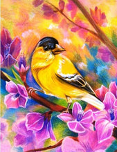 Load image into Gallery viewer, yellow sparrow diamond painting