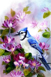 blue sparrow diamond painting