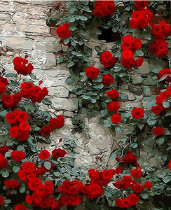 Roses on Rocks Painting - Paint by Numbers