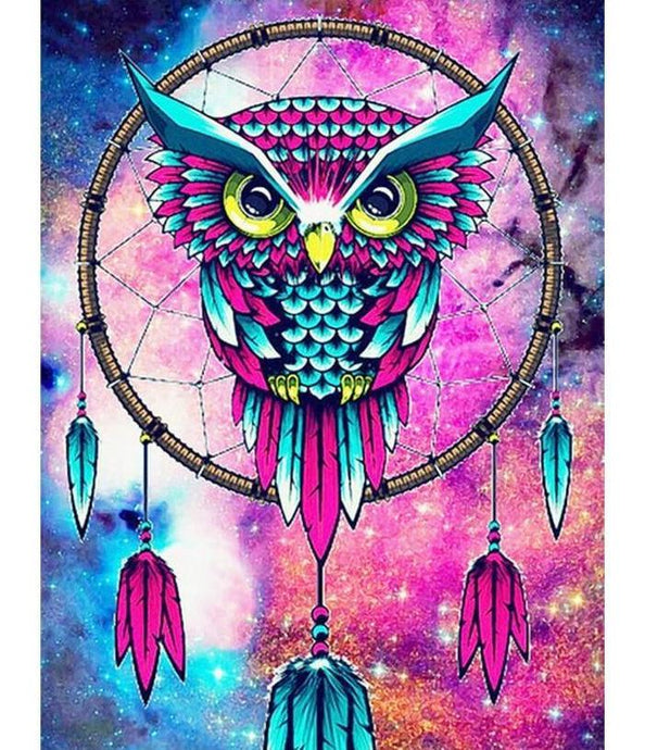 owl diamond painting dreamcatcher
