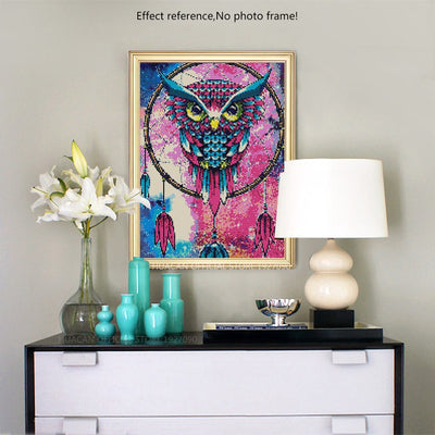 Dreamcatcher Colorful Owl Diamond Painting