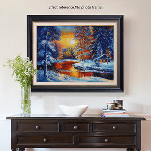 Sunset in the Snowy Winter DIY Diamond Painting