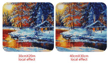 Load image into Gallery viewer, Sunset in the Snowy Winter DIY Diamond Painting