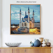 Load image into Gallery viewer, Beautiful Muslim Mosque Religious Diamond Painting Kit