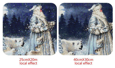 Santa With Animals - Christmas Diamond Paintings