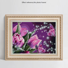 Load image into Gallery viewer, Flowers & Butterfly